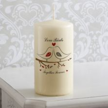 Personalised Love Birds Candle