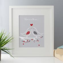 Love Is In The Air Personalised Framed Print