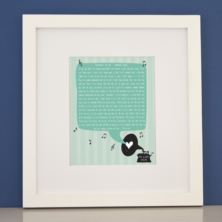 Personalised Our Song Framed Print