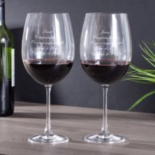 Personalised Magnum Bordeaux Large Wine Glasses