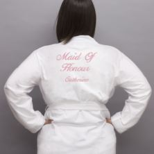 Personalised Embroidered Maid Of Honour Dressing Gown