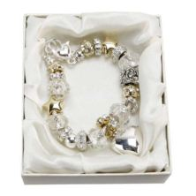Maid of Honour Amore Silver/Gold Bead Charm Bracelet
