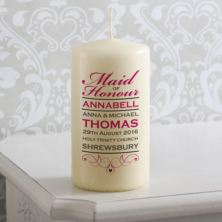 Personalised Maid Of Honour Candle