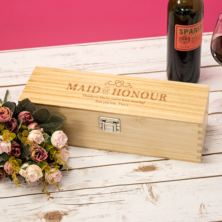 Personalised Maid Of Honour Luxury Wooden Wine Box