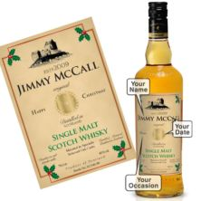 Personalised Christmas Malt Whisky