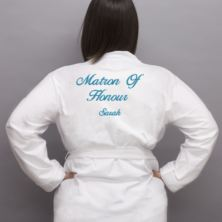 Personalised Embroidered Matron Of Honour Dressing Gown