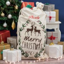 Personalised Merry Christmas Canvas Sack