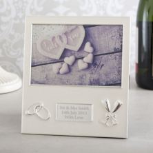 Personalised Wedding Frame - Pearl Finish