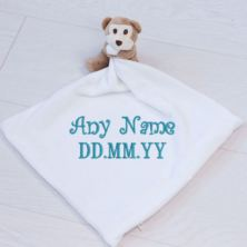 Personalised Embroidered Monkey Comforter