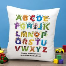 Personalised Monster Alphabet Cushion
