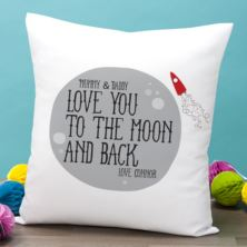 Personalised Moon and Back Cushion