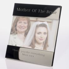 Engraved Mother Of The Bride Photo Frame