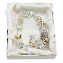 Mother of the Groom Amore Silver/Gold Bead Charm Bracelet