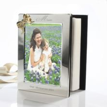Mother's Day Engraved Photo Album With Gold Coloured Bow