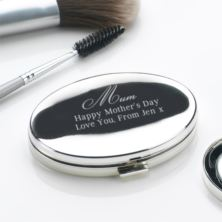 Mother's Day Engraved Oval Compact Mirror