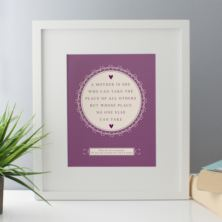 Personalised A Mother Is Framed Print
