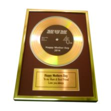 Mother's Day Personalised Gold Didi Disc