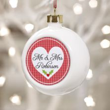Mr & Mrs Personalised Christmas Bauble