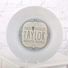Personalised Mr & Mrs Since Plate