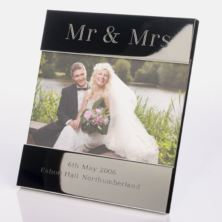 Engraved Mr & Mrs Photo Frame