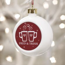 Enjoying Mulled Wine Together Since - Personalised Bauble