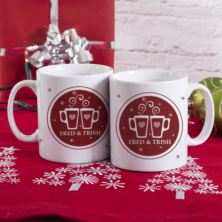 Personalised Enjoying Mulled Wine Together Mugs