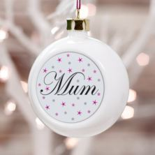 Personalised Mum Christmas Bauble
