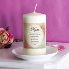 Personalised Floral Design Mum Candle
