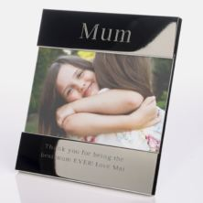 Engraved Mum Shiny Silver Photo Frame