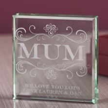 Personalised Mum Glass Keepsake