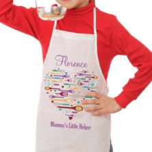 Personalised Heart Style Mummy's Helper Children's Apron