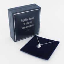 My First Diamond Heart Pendant in Personalised Gift Box