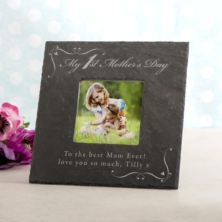 Personalised My 1st Mother's Day Square Slate Photo Frame