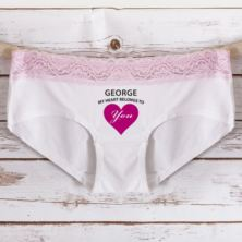 Personalised My Heart Belongs To You Ladies Hipster Briefs