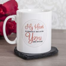 Personalised My Heart Is Perfect Mug