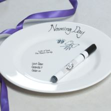Naming Day Signature Plate