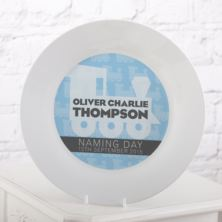 Personalised Naming Day Plate - Boy