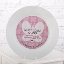 Personalised Naming Day Plate - Girl