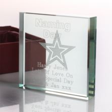 Personalised Naming Day Glass Keepsake