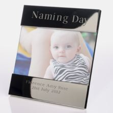 Engraved Naming Day Photo Frame