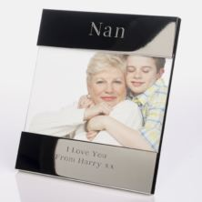 Engraved Nan Silver Plated Photo Frame