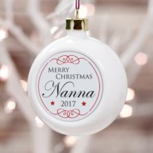 Personalised Nanna Christmas Bauble