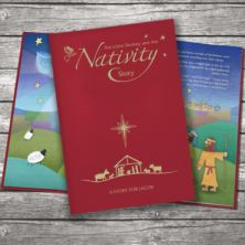 Personalised Nativity Story Embossed Classic Hardcover