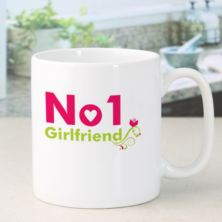 Personalised Number 1 Girlfriend Mug