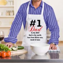 Number 1 Dad Personalised Apron