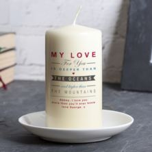 Personalised Oceans And Mountains Candle