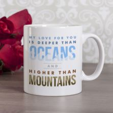 Personalised Oceans and Mountains Mug