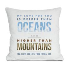 Personalised Oceans And Mountains Cushion