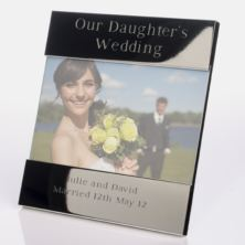 Engraved Our Daughters Wedding Photo Frame