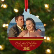 Personalised Our First Christmas Photo Ornament